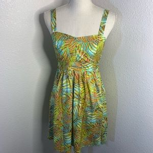 Anthropologie Band Of Gypsies Palm Leaves Dress